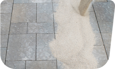 This project is made with our Polymeric Sand Pavermate Z3