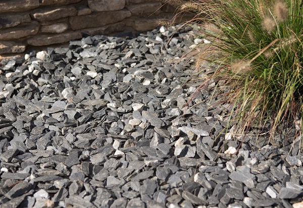 Medium Slate Chip Gravel Georgia Landscape Supply